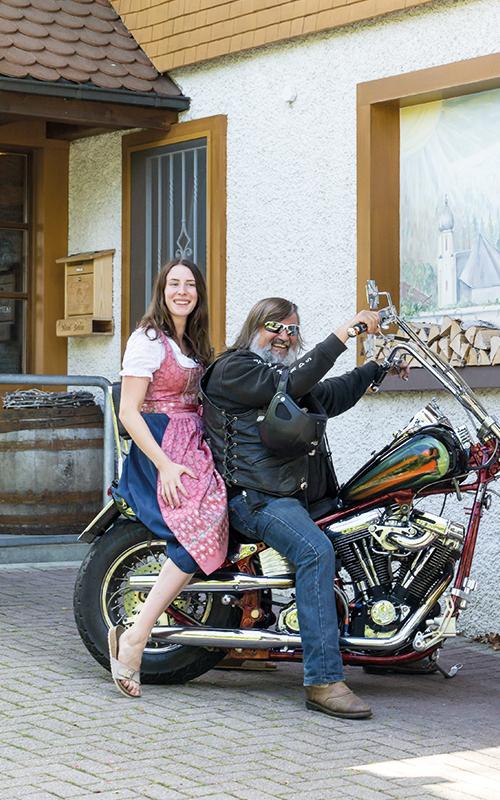 Auch für Motorradfahrer ein lohnenswertes Ziel: Hotel Sonne
